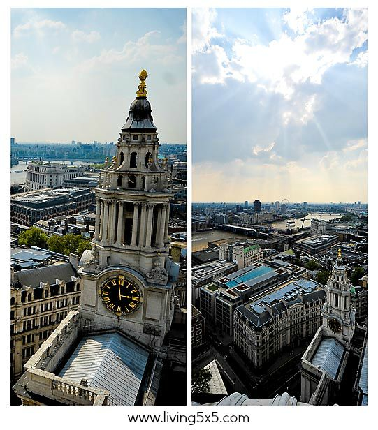 How are you living5x5 today? See my inside shots of St. Paul's Cathedral in London.