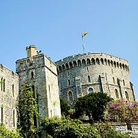 Windsor Castle in England – we saw the Queen!