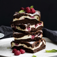 Raspberry  Brownie Dessert recipe