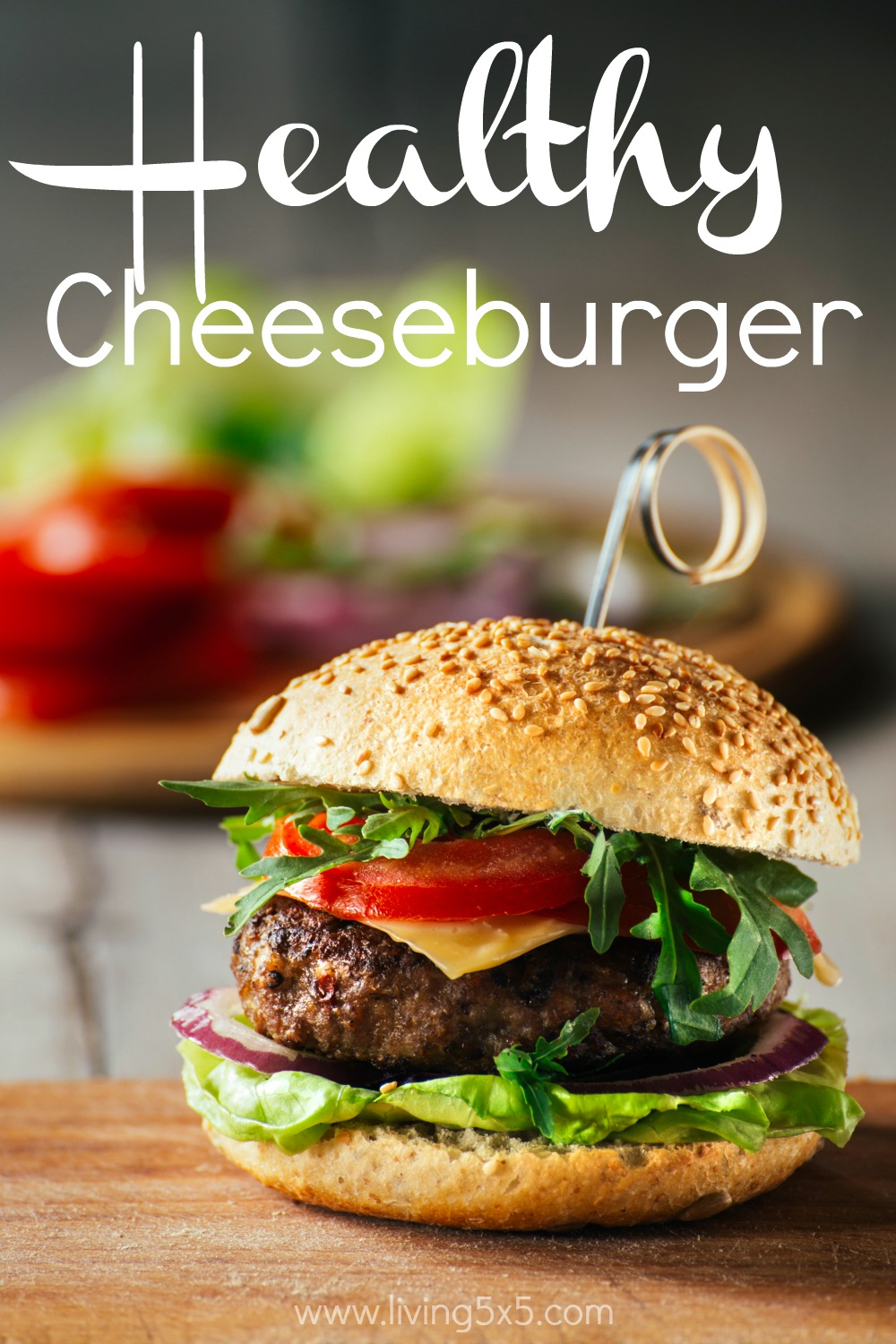 Burgers can be healthy, too. Try out this healthy cheeseburger recipe!