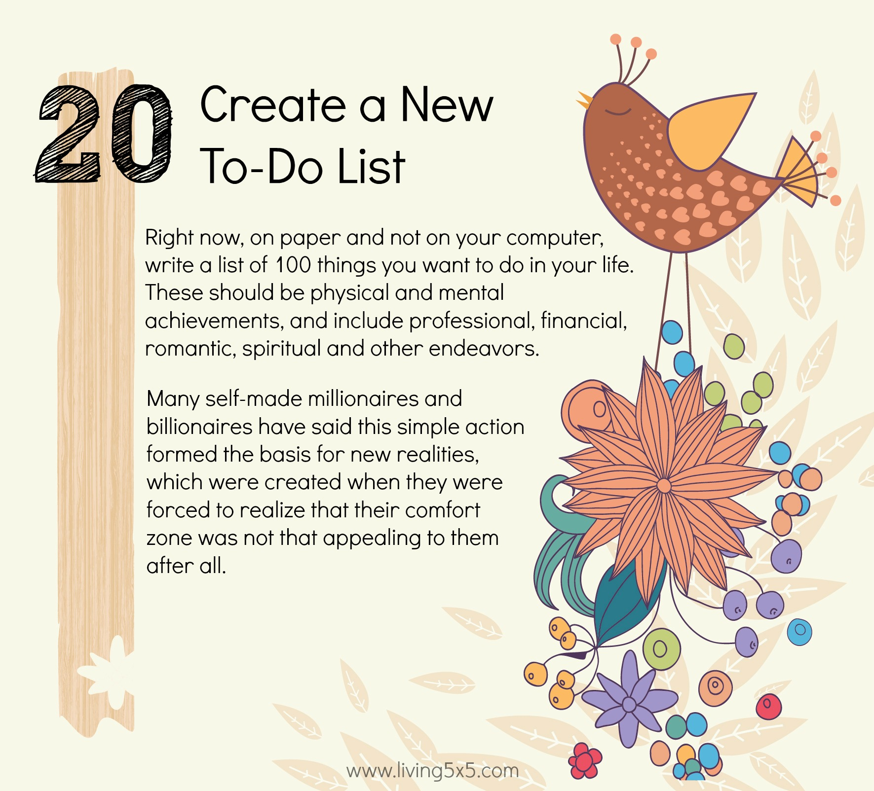 21 Ways To Step Outside Of Your Comfort Zone: #20 Create a To-Do List.
