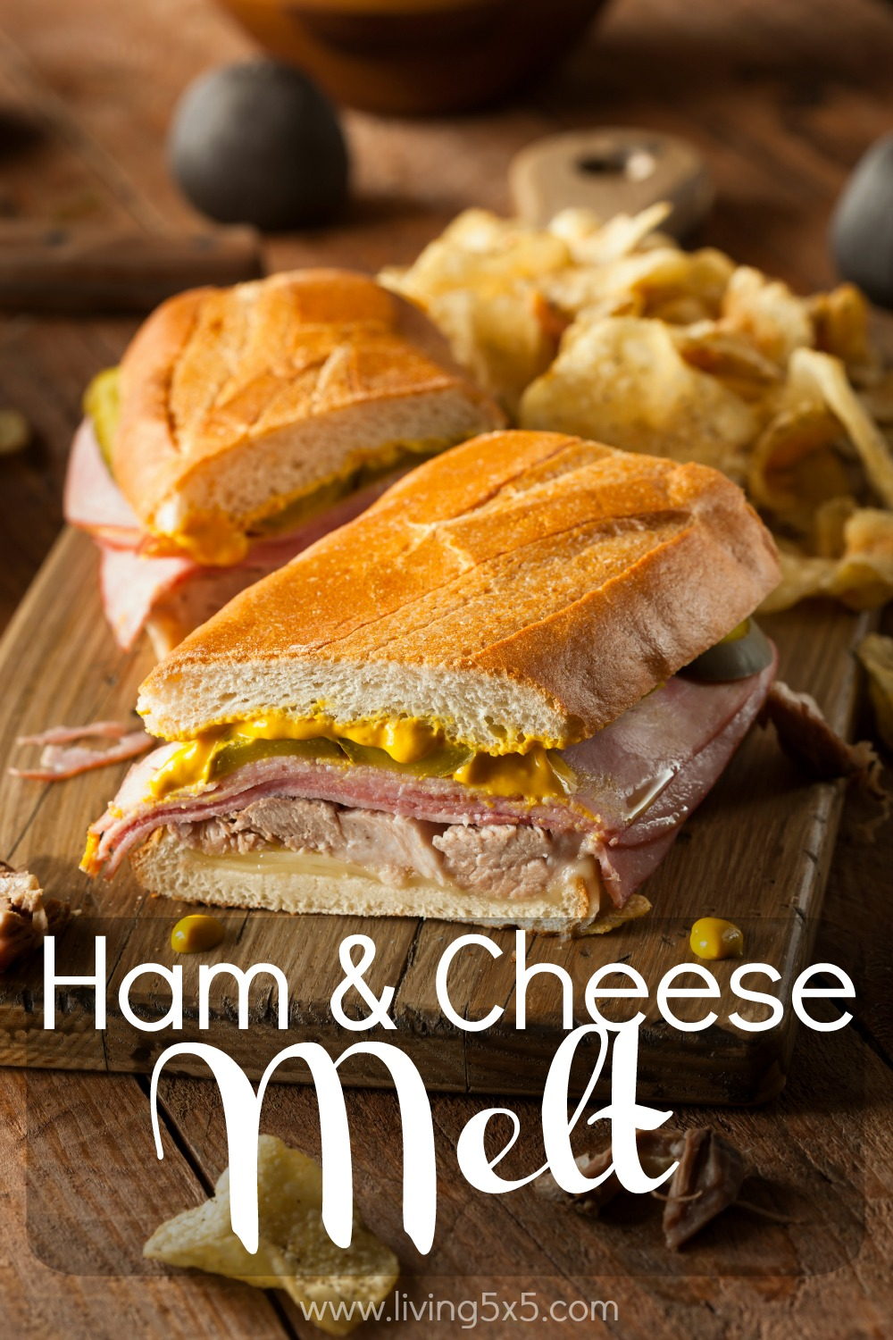 If you love melty sandwiches, try one of my favorite go-to's from Emeril Lagasse's recipe. This ham and cheese melt is delicious!