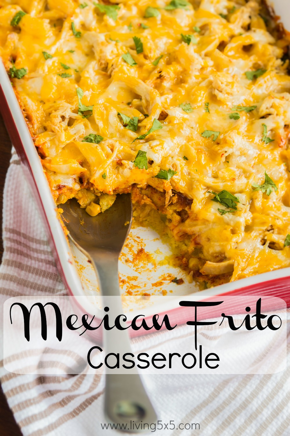 Feeling for something a little crunchy and filling at the same time? Try this Mexican Frito Casserole that will be sure to satisfy you!