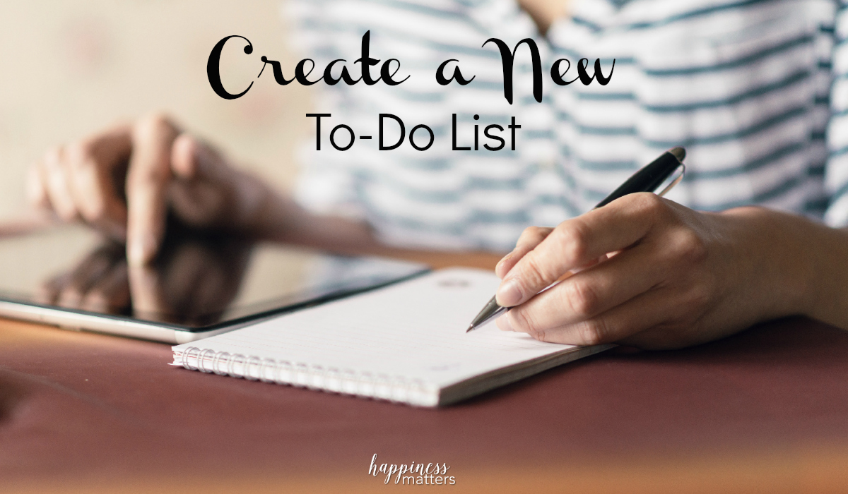 When you focus yourself on your goals, you may realize that your comfort zone is no longer appealing. In order to fully step outside of your comfort zone, create a new to-do list of things you want to accomplish in your life that will form the basis for your new reality!