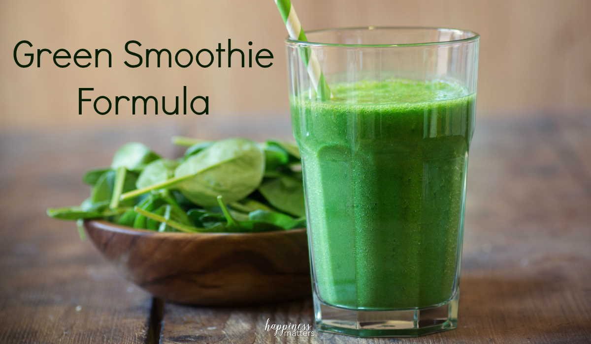 Drinking green smoothies can give you energy to power through the day, along with the proper nutrients you need. Once you start adding fruit to this green smoothie formula, you can barely taste the greens!
