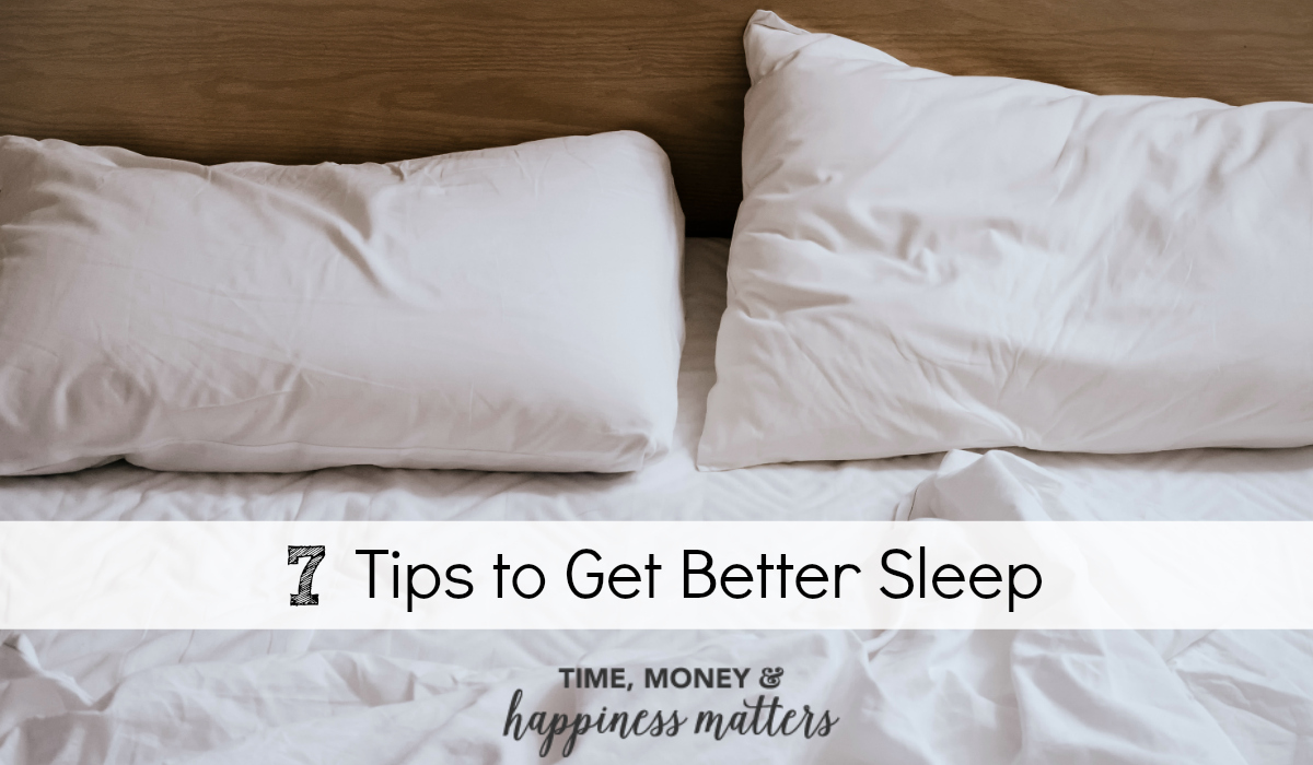Are you getting enough sleep? Most adults don't. It is easy to turn this bad habit around with the following 7 tips to get better sleep.