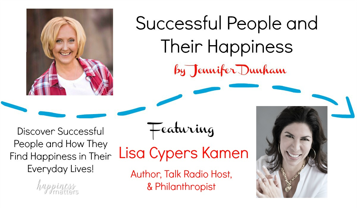 I'm ecstatic today to share with you an amazing woman who has been an inspiration and support to me. Lisa Cypers Kamen is the voice behind Harvesting Happiness radio show, author of a brand new book, and an overall bringer of happiness to every life she touches!