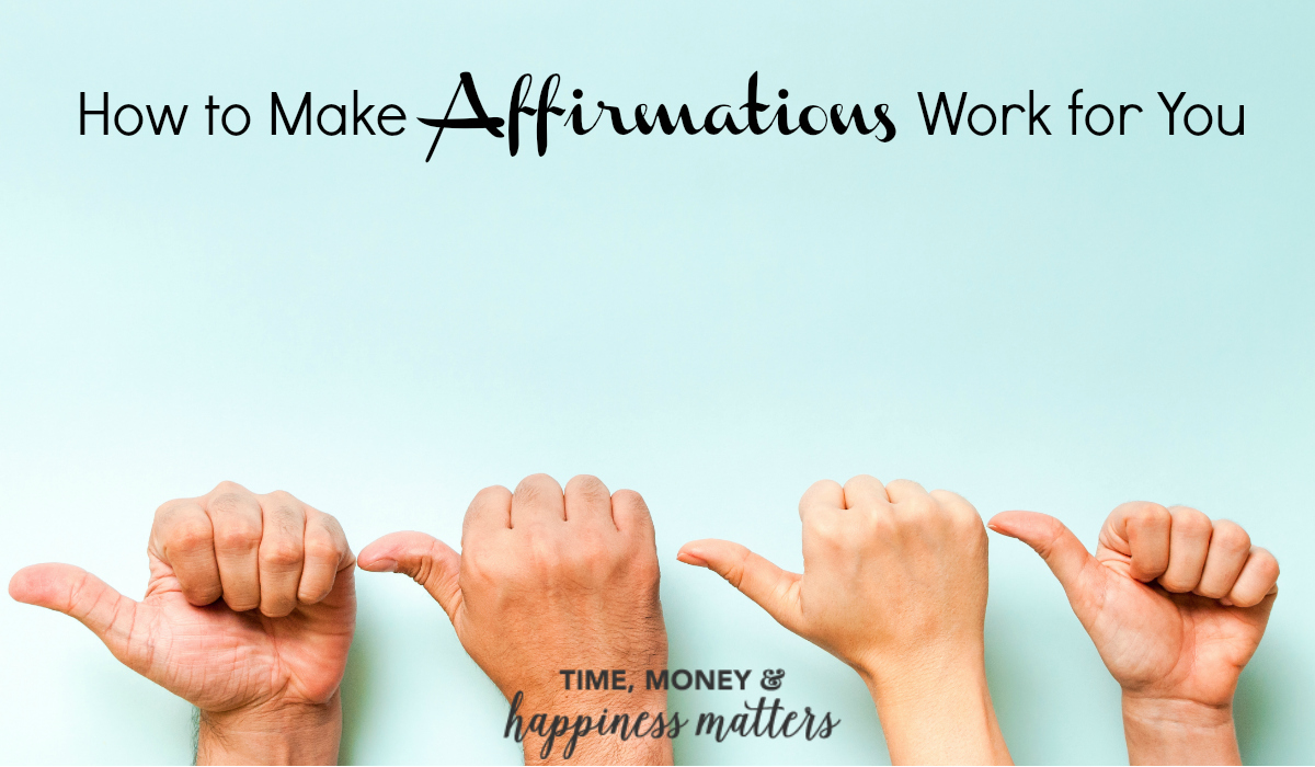 If you believe in self-help, then you have probably heard all about affirmations. See How to Make Affirmations Work for You.