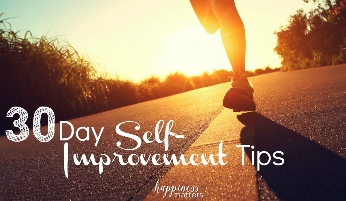 30 Day Self-Improvement Tips