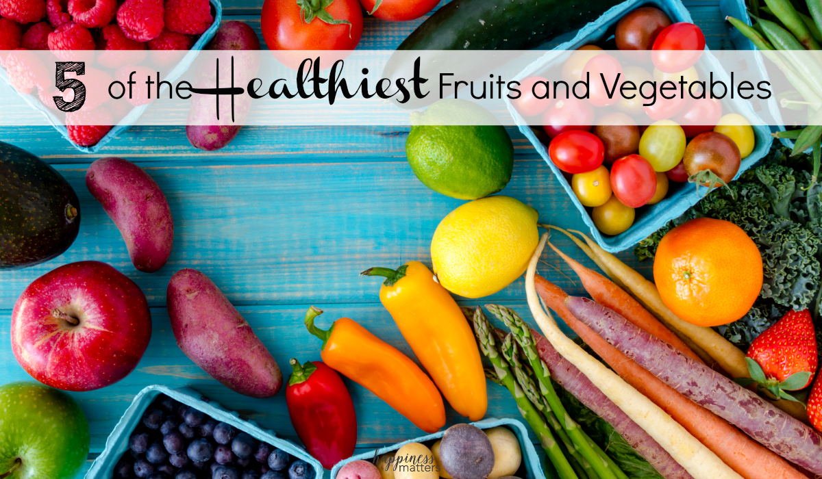 It's really important to eat healthily, so let's look at 5 of the healthiest fruits and vegetables to include in your diet.