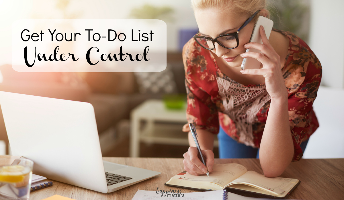 Don't let your to-do list get away from you! Get your to-do list under control today with time management strategies.