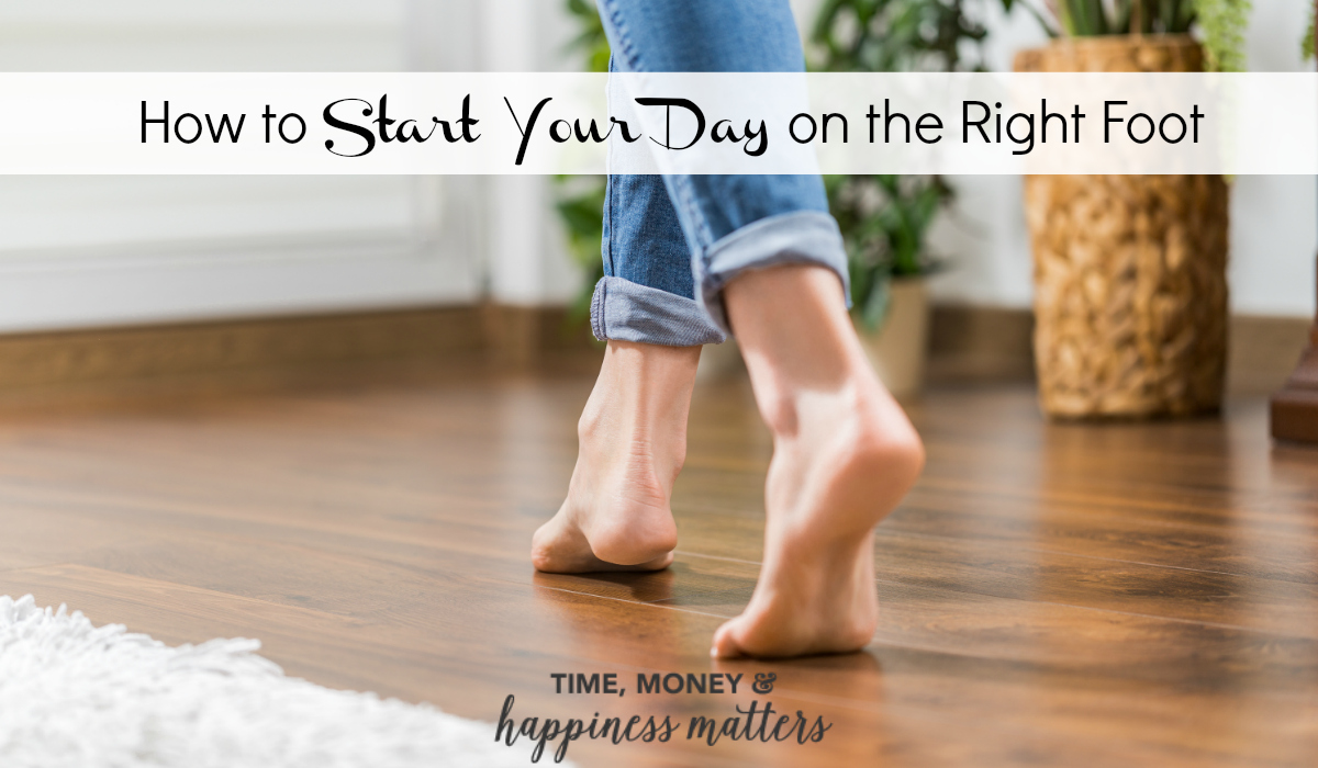 Do you bounce out of bed eagerly, or stagger out groggily? Learn how to start your day on the right foot by changing your routine with my 5 tips!