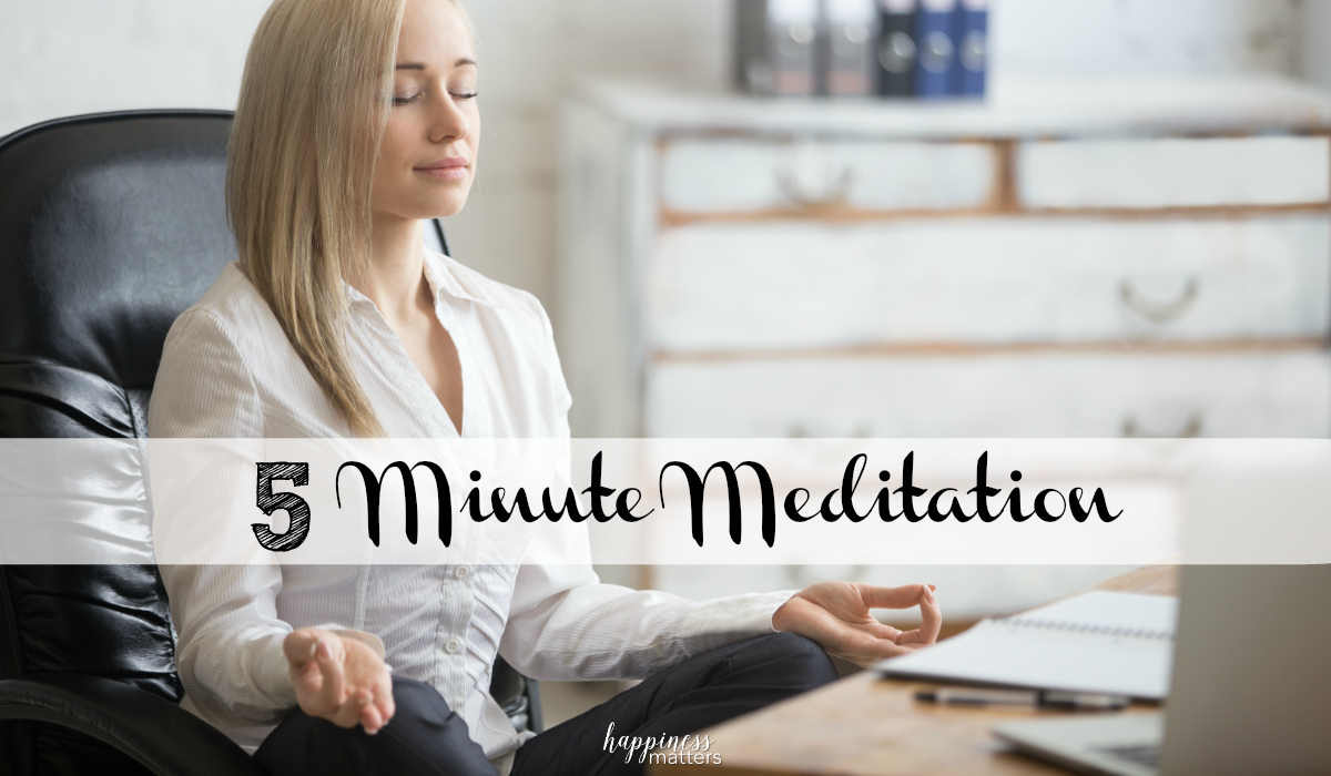 I wanted to share with you what I've learned about 5 minute meditation in my very short week of attempting 5 minute routines, which are more difficult than I thought