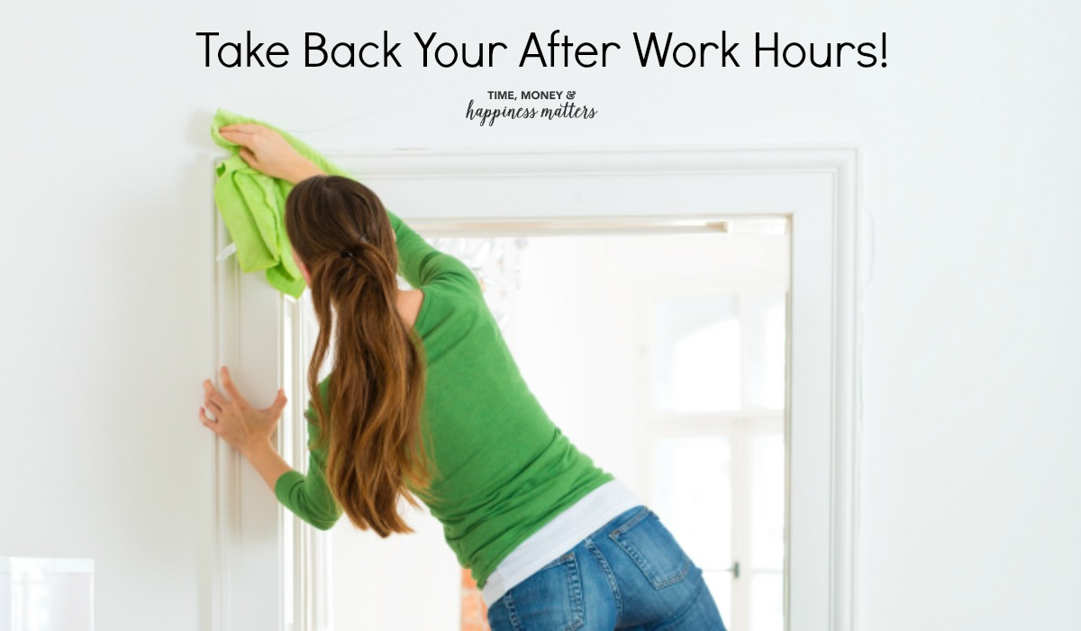 What consumes your after work time? Most of us have housework to attend to after we work a full day. And it can be tiring! Let's talk about taking back time after work and do the things you love like relax.