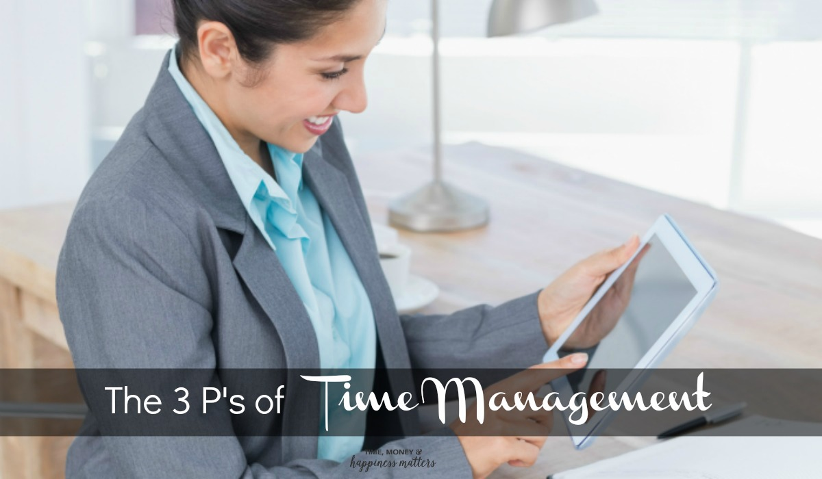 Managing time is a learned skill. Most people are better at learning it and others need to work really hard at getting right. Once you learn what the 3 P's of time management are, you are more likely to stay on task and stay productive!