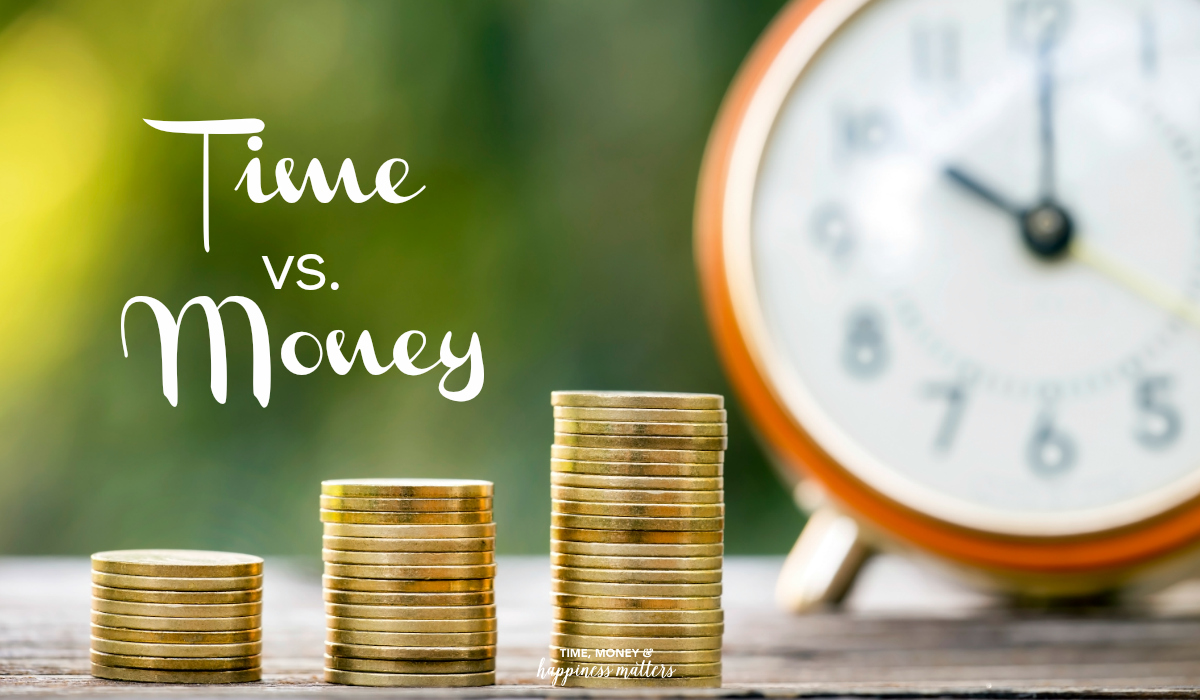 You can work hard and make more money but you can't make more time. You have the same 24 hours as everyone else. Since you can't make more time, you have to be careful how you use the time given. How do you find the right balance between time versus money?