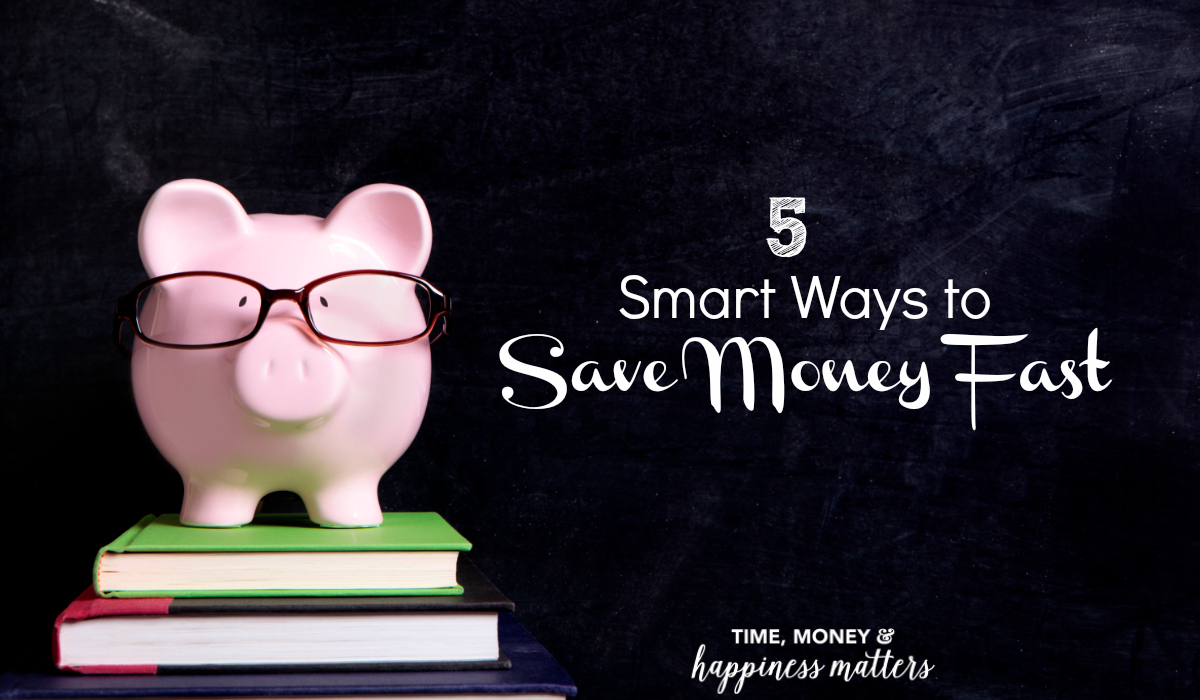 Learn 5 Smart Ways to Save Money Fast and cut your extra spending.