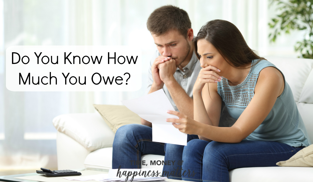 Whether you're managing your debt well or struggling with it, it's important to know how much you owe to each creditor, and how much you owe all together. In this case, ignorance might seem like bliss, but it's actually quite dangerous. Do you know how much you owe?