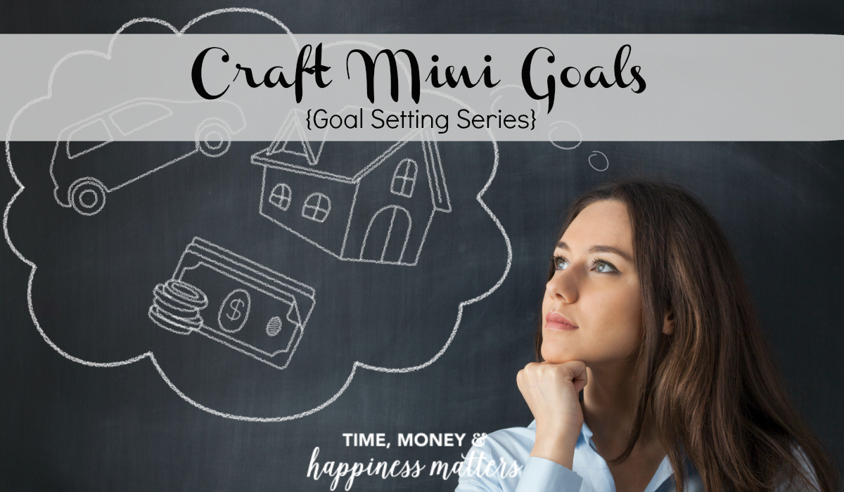 When long term goals seem too far out of reach, you can craft mini goals along the way to help you achieve your end result.
