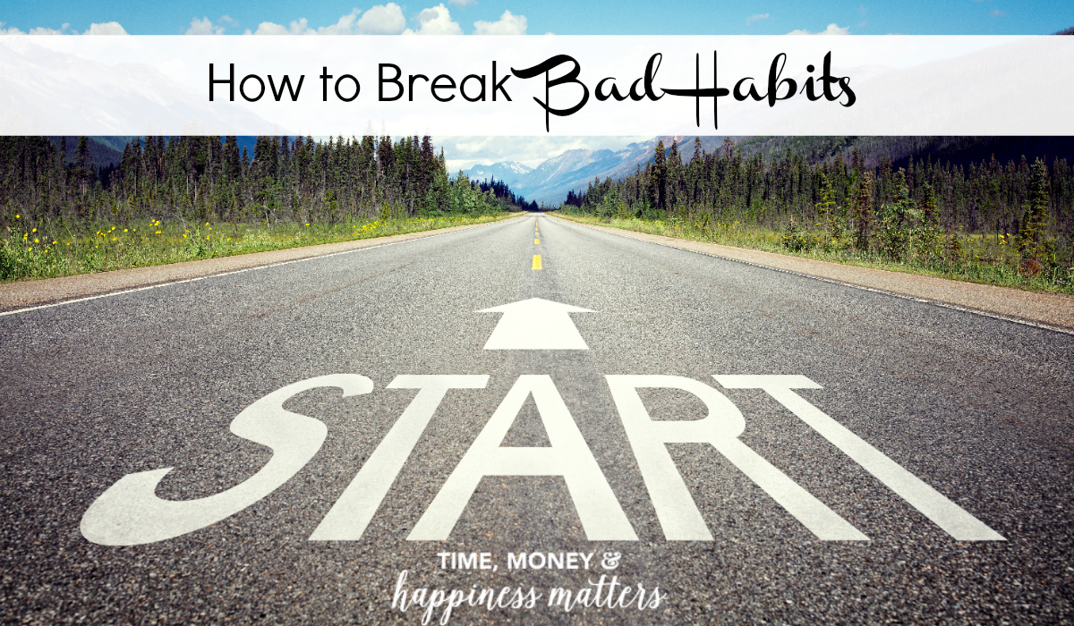 how to break a bad habit Whether it's going to the cupboard for comfort, or staring at the television to escape, we all can use some help breaking bad habits.