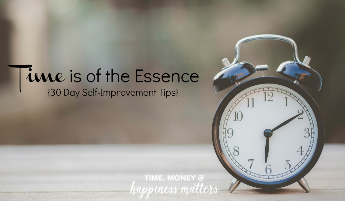 Welcome back to the third week of my 30 Day Self-Improvement Series! I hope the previous tips are helping to improve a new you and your daily habits. Tips #13-18 can help by starting your day off on the right foot, and utilizing your time wisely because time is of the essence.