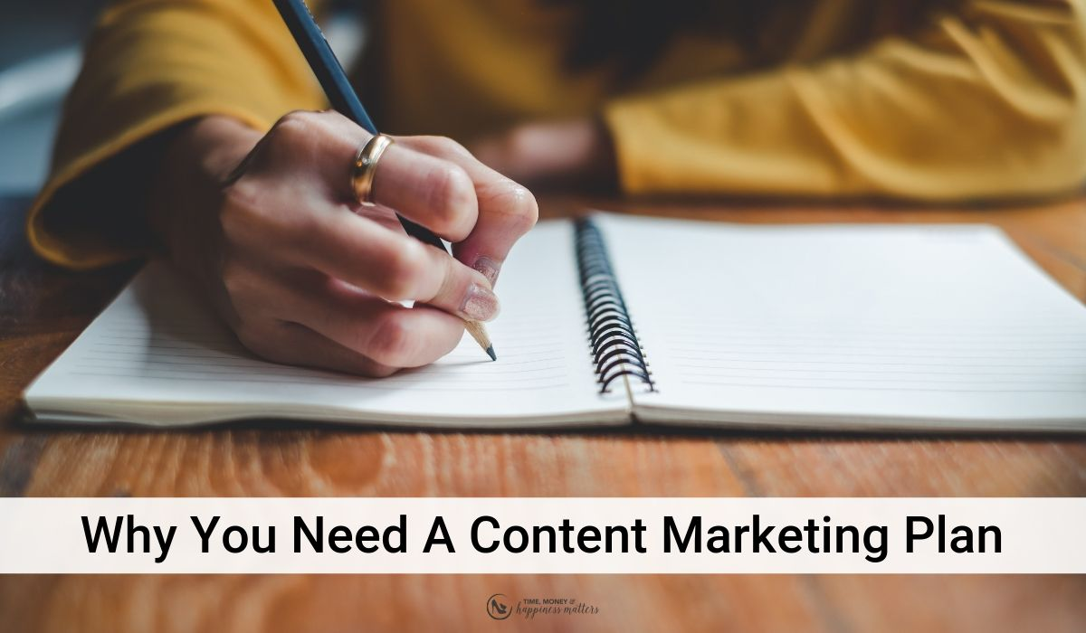 you need a content plan